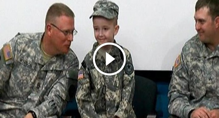 Soldiers make dream come true for young boy battling rare disorder