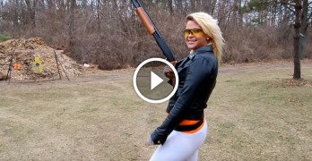 Cold weather Cailie heats things up with a Mossberg 500