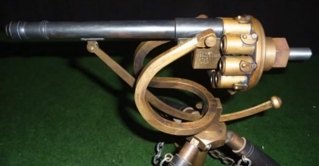 An antique Puckle Gun on display.