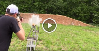 How many pieces of drywall do you think it takes to stop a .22LR bullet?