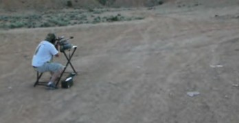 .50 cal ricochet from 100 yard shot hits shooter in the head