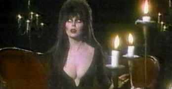 Elvira Mistress of the Dark bloopers just in time for Halloween
