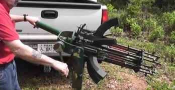 Texan builds fully functional Gatling gun from 6 SKS rifles