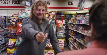 Meth addict with a knife picks the wrong convenience store