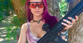 Want to see a girl who really knows how to handle a weapon?