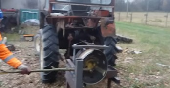 Inventive farmer couldn't afford one so he built his own