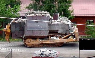 """Heemeyer's homemade tank would be forever known as """"the killdozer."""""""
