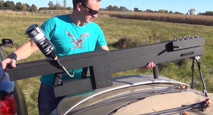 Fully functional homemade railgun built in the backyard