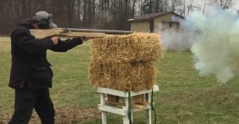 1.5 gauge shotgun weighs 47 lbs and feels like firing a cannon from your shoulder