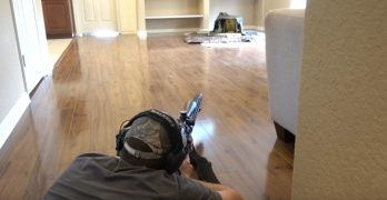 Shooter converts living room to shooting range without his wife knowing