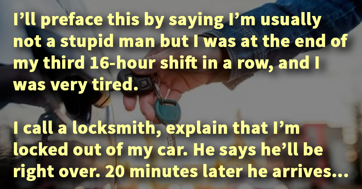 """Car Remote Unlocker >> Man """"locked out"""" of his car calls for help, the locksmith ..."""