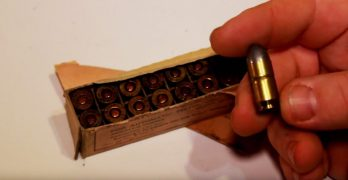 Firing ammo that's almost 100-years-old, twenty rounds of .45 ACP made in 1918