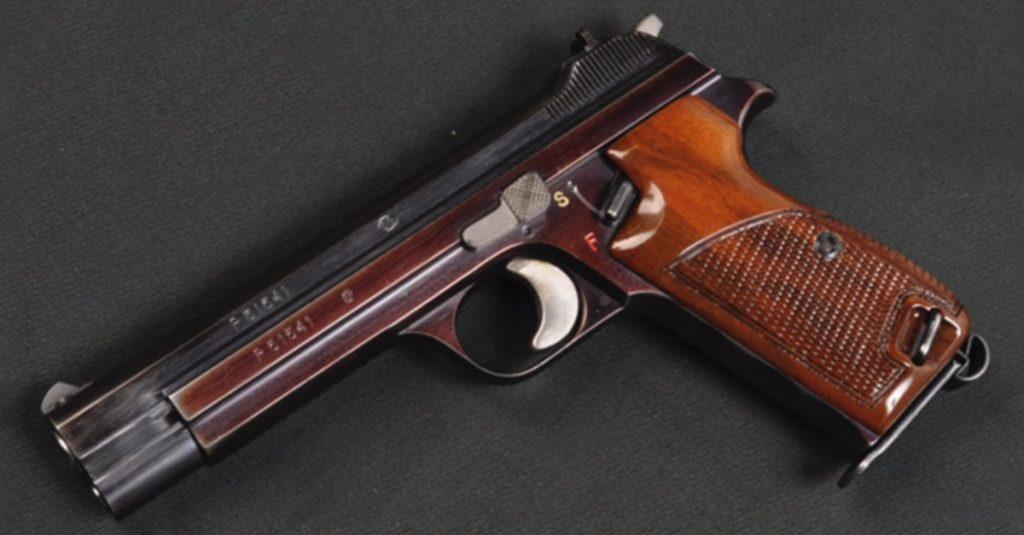 The Sig Sauer P210 handgun was originally built as a Swiss police firearm.