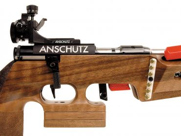 The biathlon rifle features a two stage trigger.