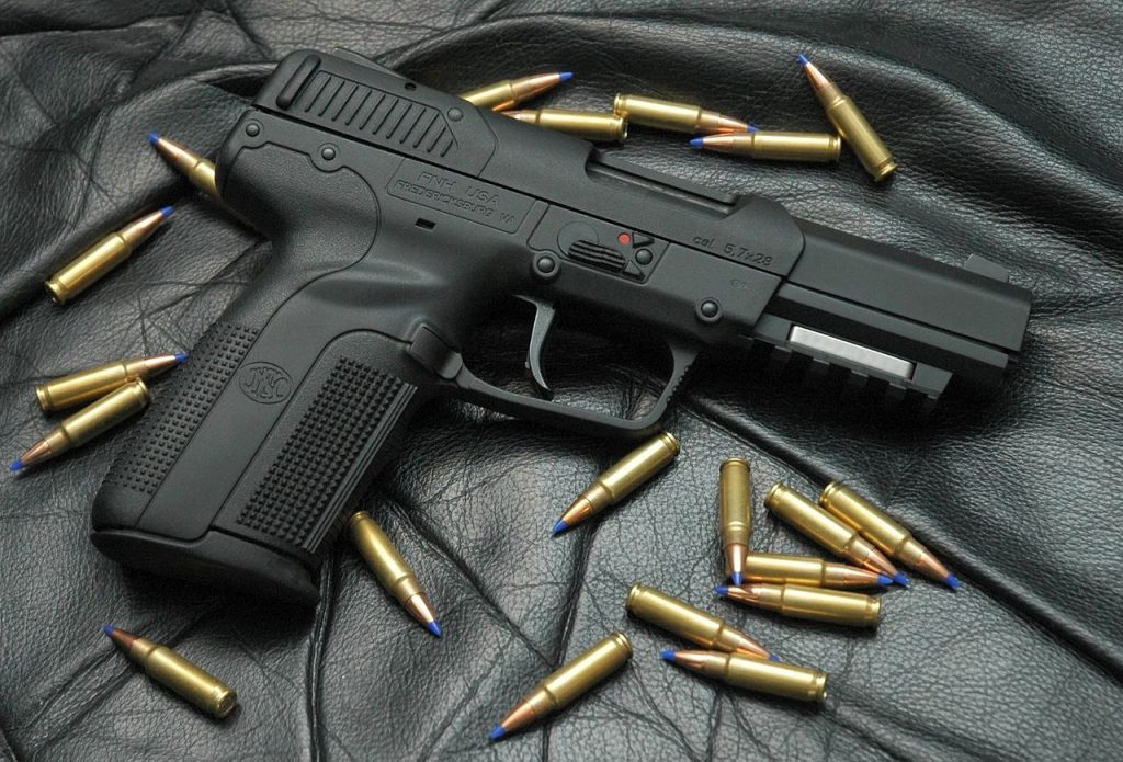 he FN Five-seveN with 5.7x28mm cartridges.
