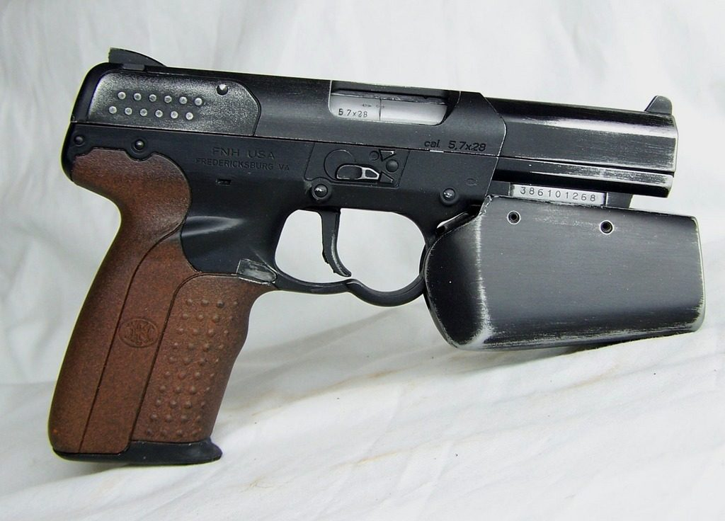 The FN Five-seveN was used as the basis for the Battlestar Galactica handgun.